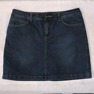 St. John's Bay Denim Skirt